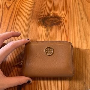 Tory Burch Camel and Gold Wallet